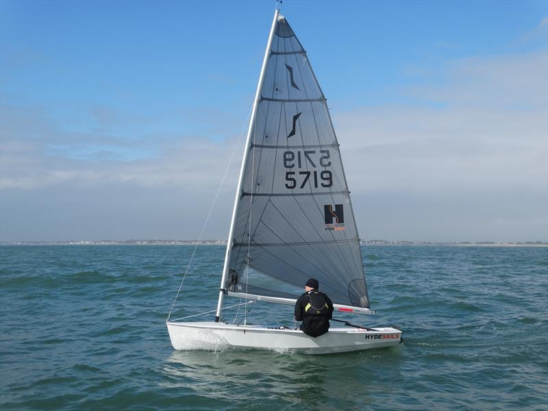 Richard Lovering sailing with the Hyde Sails Solo 4B D plus - photo © Hyde Sails