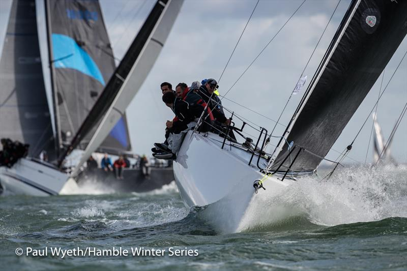 ICY, Melges IC37 during the HYS Hamble Winter Series - photo © Paul Wyeth / www.pwpictures.com