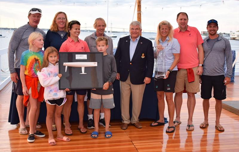 Members Only Team: Jay Cross, Ben Kinney, Hannah Swett, Steve Benjamin, Brian Fox, Jamie Hilton, Ian Liberty, Linda Lindquist-Bishop and Joan Porter - 2019 Melges IC37 National Championship - photo © Stuart Streuli / New York Yacht Club