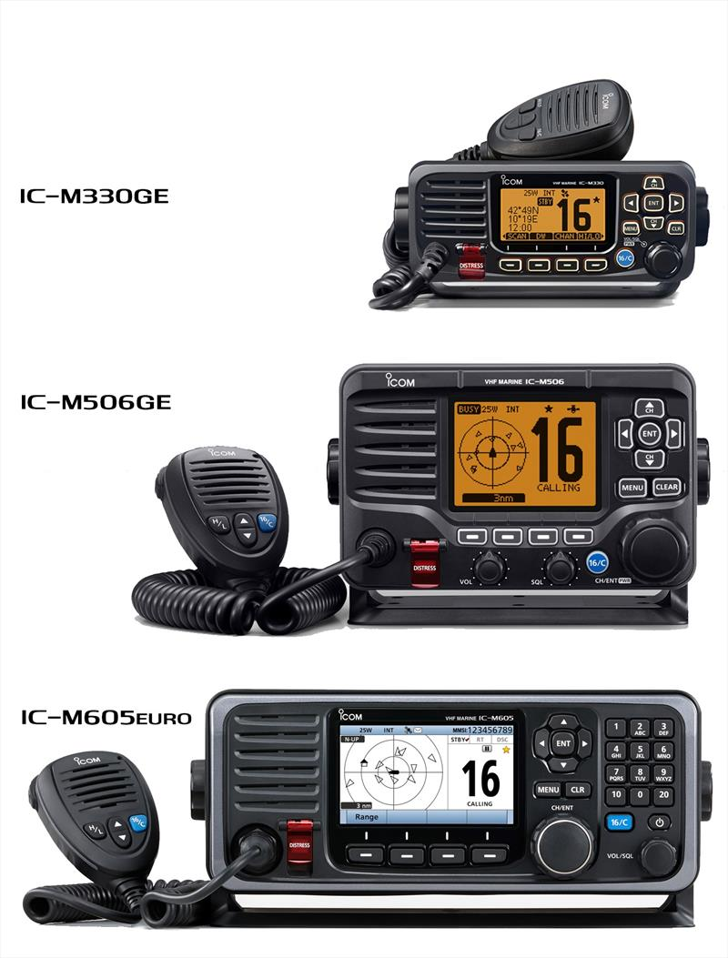 Icom's new marine fixed VHF/DSC radio range photo copyright Icom taken at  and featuring the  class