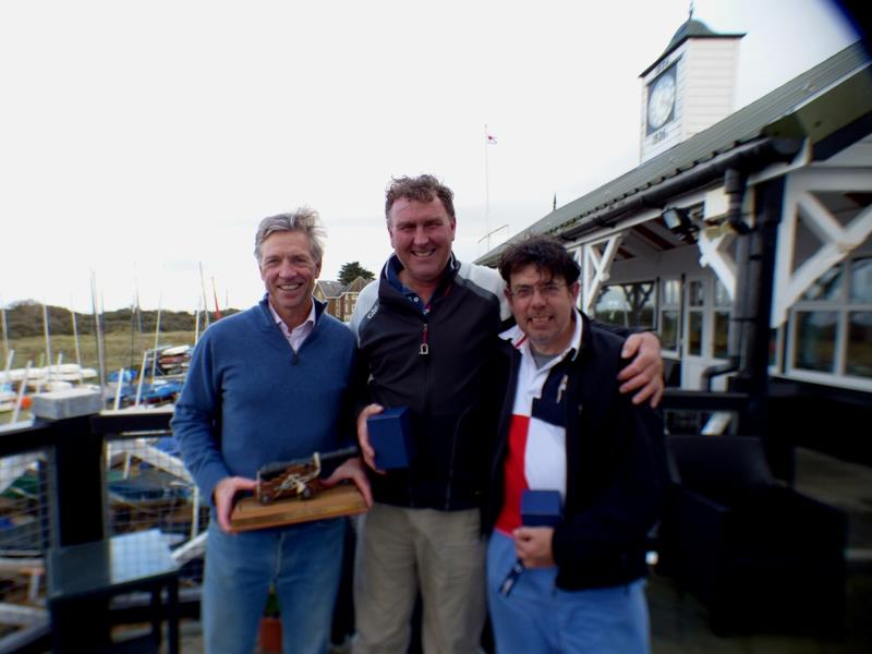 Top three in the Bembridge Illusion Trafalgar Trophy 2017 - photo © Mike Samuelson