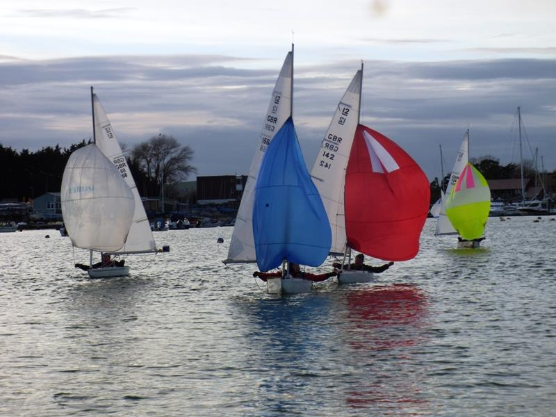 Fleet race during the Bembridge Illusion Inter Club Team Racing - photo © Mike Samuelson