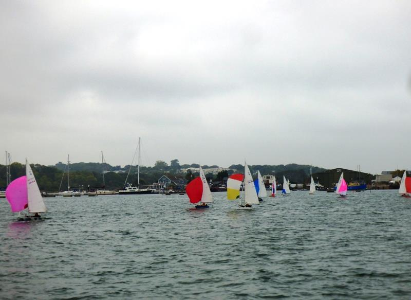 Downwind during race 1 of the Illusion season opener at Bembridge - photo © Mike Samuelson