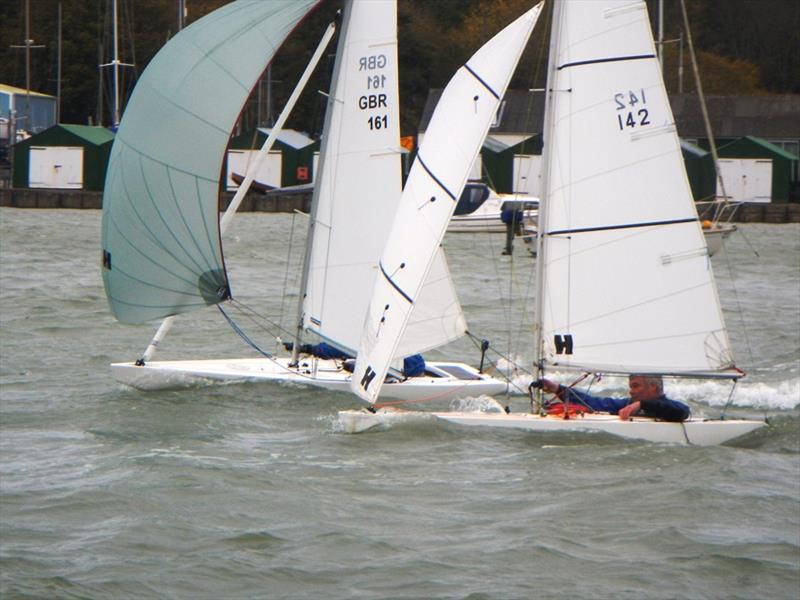 Illusion Nationals at Bembridge photo copyright Mike Samuelson taken at Bembridge Sailing Club and featuring the Illusion class