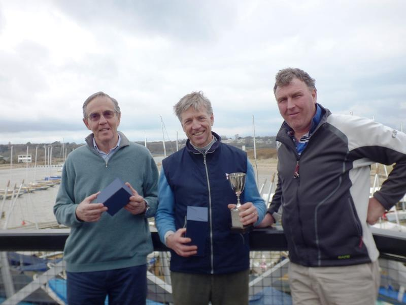 Bruce Huber wins the Vernon's Easter Egg Cup for Illusions at Bembridge photo copyright Mike Samuelson taken at Bembridge Sailing Club and featuring the Illusion class