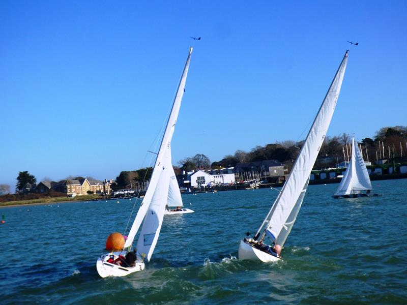 Bembridge Illusion Team Racing re-run of the aborted final - photo © Mike Samuelson
