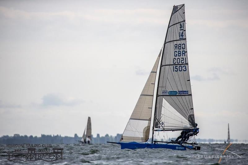 International 14 at the East Coast Piers Race 2019 - photo © Alex Irwin / www.sportography.tv