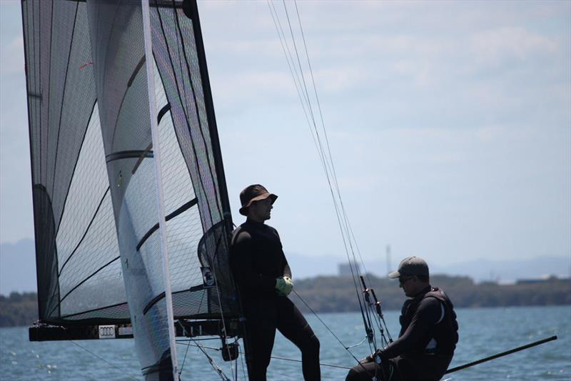 International 14 Australian Championships - Day 5, Race 8 photo copyright Lyn Hanlon taken at Darling Point Sailing Squadron and featuring the International 14 class