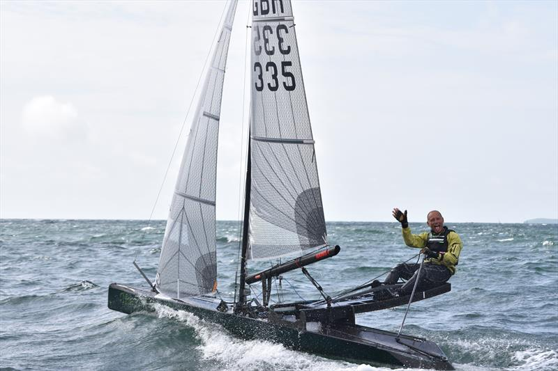 No report on the Worlds could be complete without a final mention of Gareth Caldwell. Possibly the quickest boat in breeze, he is one of the new breed of thinking sailors, prepared to experiment and innovate - photo © David Henshall
