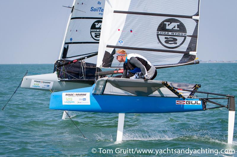 Tom Offer at the International Moth World Championships - photo © Tom Gruitt / YachtsandYachting.com