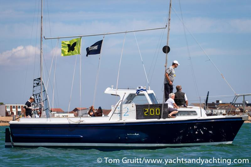 The Race Committee on the final day of International Moth World Championships - photo © Tom Gruitt / YachtsandYachting.com