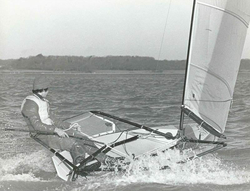 John Claridge Moth sailing photo copyright William Payne taken at  and featuring the International Moth class