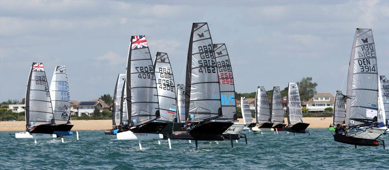 The fleet on day 3 of the International Moth UK Nationals at Stokes Bay - photo © Mark Jardine