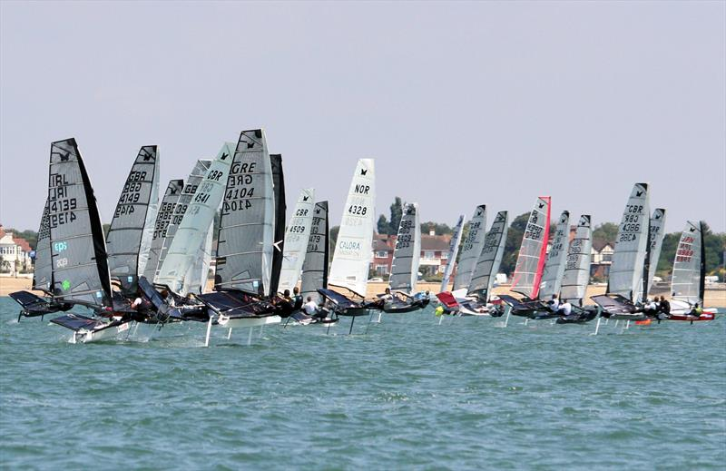 Noble Allen 2018 International Moth UK Championship at Thorpe Bay day 3 photo copyright Mark Jardine / IMCA UK taken at Thorpe Bay Yacht Club and featuring the International Moth class