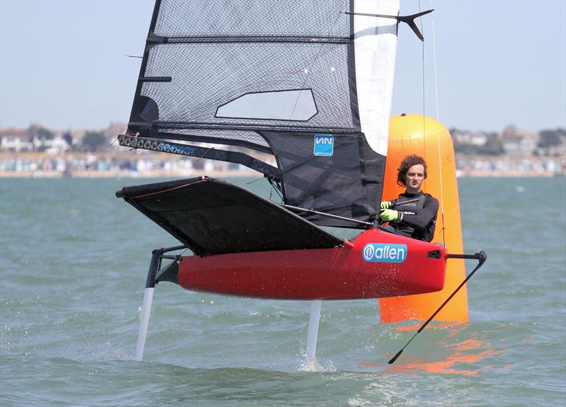 Lennon deck-sweeper mainsail during the Noble Allen 2018 International Moth UK Championship at Thorpe Bay - photo © Mark Jardine / IMCA UK