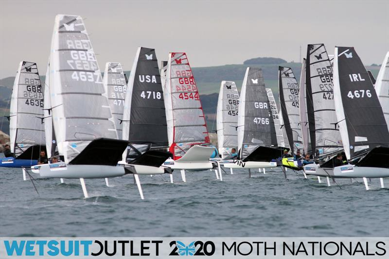 Wetsuit Outlet UK Moth Nationals day 3 photo copyright Mark Jardine / IMCA UK taken at Weymouth & Portland Sailing Academy and featuring the International Moth class