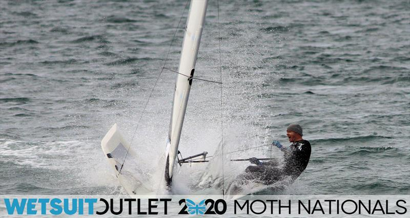 Ross Harvey goes down the mine on day 5 of the Wetsuit Outlet UK Moth Nationals photo copyright Mark Jardine / IMCA UK taken at Weymouth & Portland Sailing Academy and featuring the International Moth class