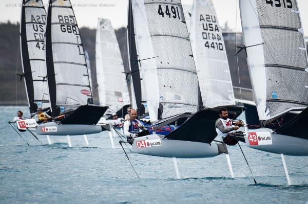 Starts of a race which would end up abandoned, on day 6 of the Bacardi Moth Worlds in Bermuda - photo © Martina Orsini