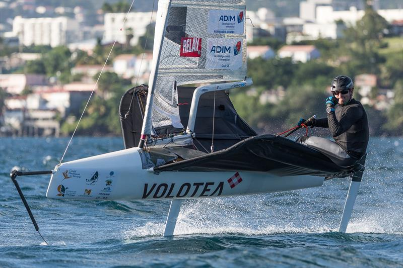 Early lead in the Moths for Benoit Marie, despite a broken wing bar - Martinique Flying Regatta 2018 - photo © Jean-Marie Liot / Martinique Flying Regatta