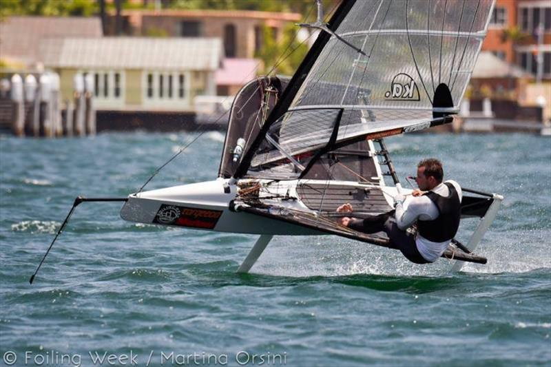 Josh McKnight took out the recent NSW Moth States at Foiling Week - photo © Martina Orsini