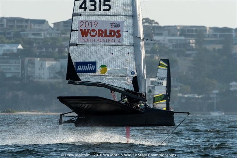 Perth Western Australia provides the perfect race track for Moth sailing - photo © Drew Malcolm