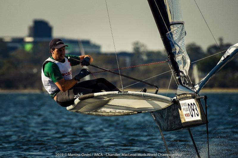 Perth local Sam Gilmour racing in the Moth Worlds day 2 - photo © Martina Orsini