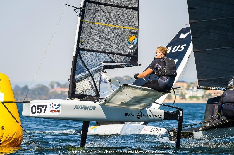 Kyle Langford was the second best after the first day of Gold Fleet racing - 2019 Chandler Macleod Moth Worlds photo copyright Martina Orsini taken at Mounts Bay Sailing Club, Australia and featuring the International Moth class