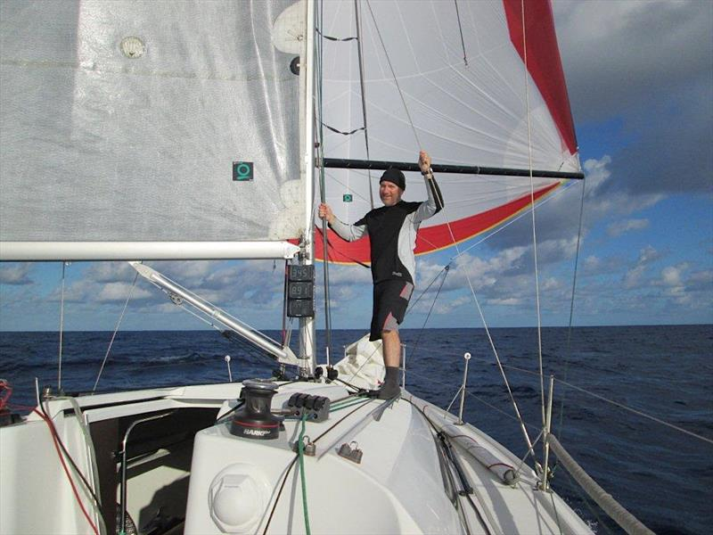 Dale Kushner aboard Yolo during the Cape to Rio yacht race - photo © Imagina