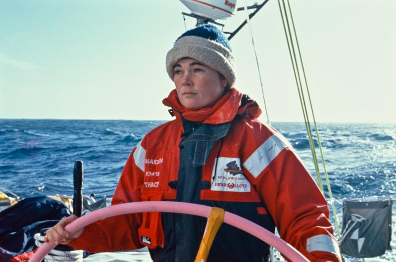 1989-90 Whitbread Round the World Race: Tracy Edwards, skipper of Maiden - photo © Tanya Visser / PPL