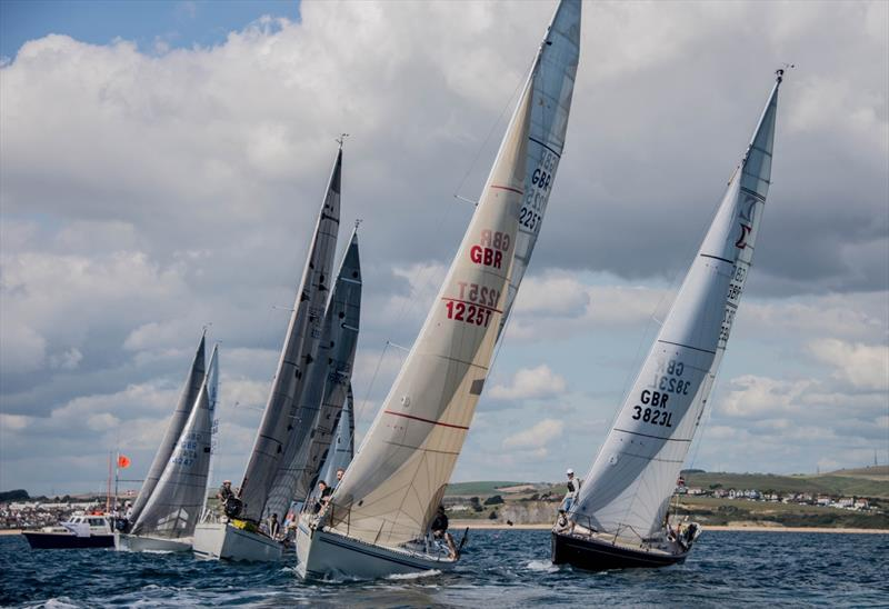Close racing and excellent sailing conditions for race 2 and 3 during the 2017 Hempel Weymouth Yacht Regatta - photo © Gillian Downes