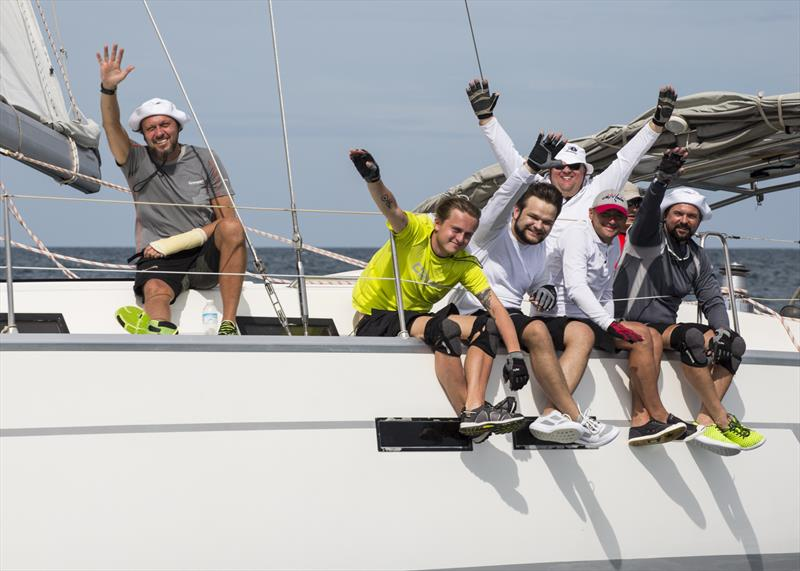 Happy sailors on day 3 of the Phuket King's Cup Regatta photo copyright Guy Nowell / Phuket King's Cup taken at Royal Varuna Yacht Club and featuring the IRC class