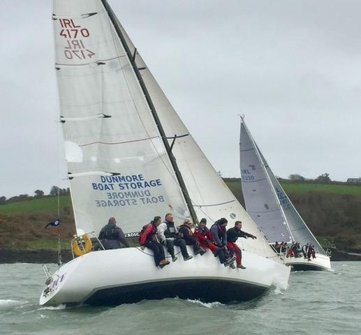 Slack Alice (IRL 4170) on day 2 of the Matthewws Helly Hansen Kinsale Yacht Club Spring Series photo copyright Dave Sull taken at Kinsale Yacht Club and featuring the IRC class
