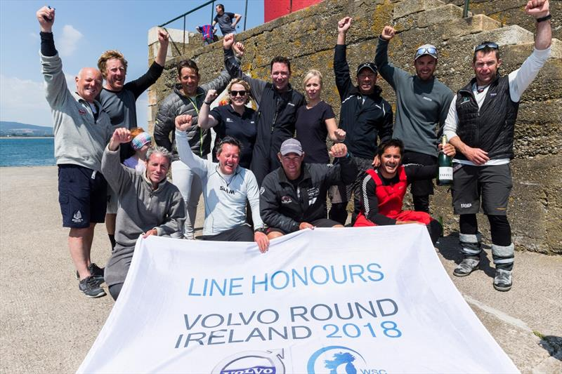 Line honours for Baraka GP in the 2018 Volvo Round Ireland Race - photo © David Branigan / Oceansport