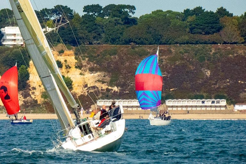 Amigos sails upwind as the Poole Bay Winter Series kicks off in bright sunshine - photo © Poole Bay Winter Series