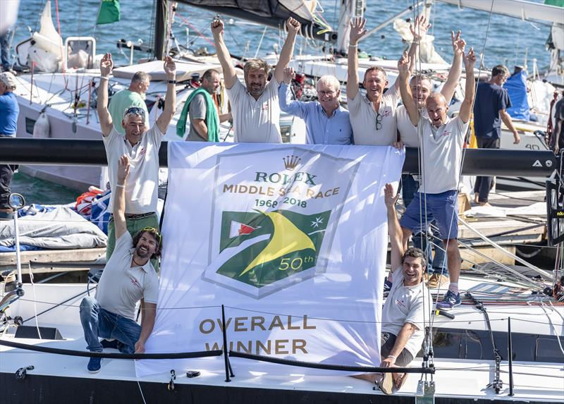 Courrier Recommandé wins the Rolex Middle Sea Race 2018 - photo © Rolex / Kurt Arrigo
