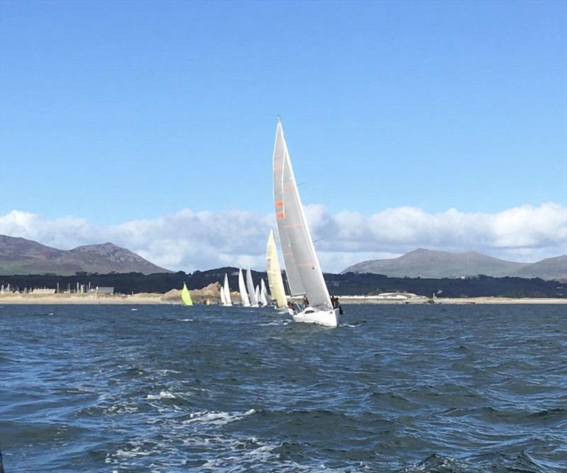 View from Mayhem leading the fleet on weekend 4 of the Pwllheli Challenge Series - photo © Glenn Pritchard