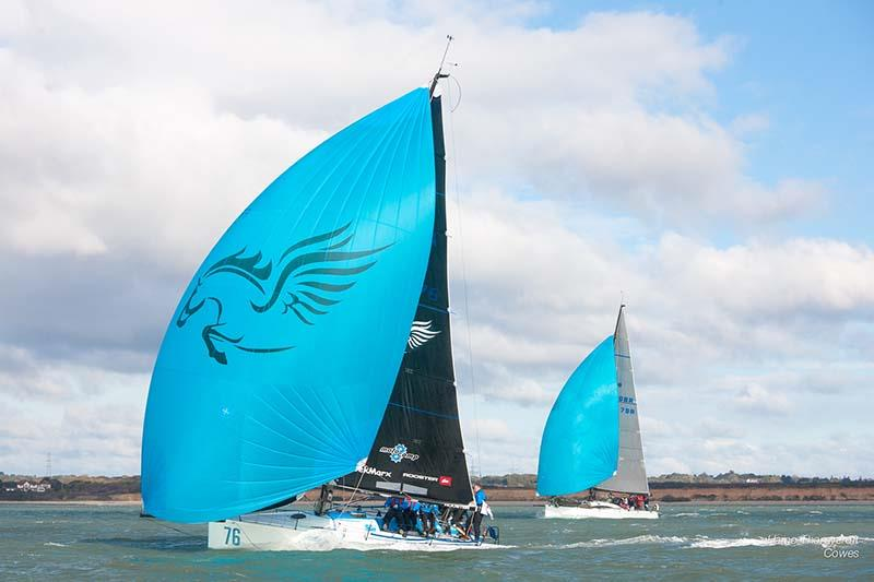 Pegasus and Skirmisher during week 4 of the HYS Hamble Winter Series - photo © Hamo Thornycroft / www.yacht-photos.co.uk