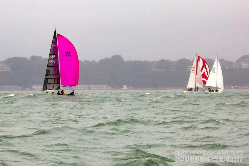 MS Amlin QT (GBR1972) on day 5 of the Poole Bay Winter Series - photo © David Harding / www.sailingscenes.com