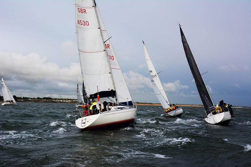 Class 1 & 2 start during Hamble River's Wednesday Night Early Bird series race 4 - photo © Trevor Pountain
