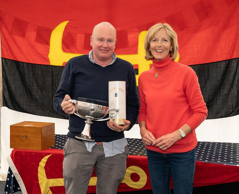 John Stamp of Jacob VII receives the trophy from Fiona Watson at the Mudhook Regatta - photo © Neill Ross