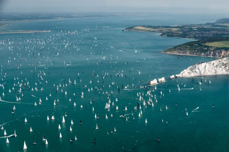 2019 Round the Island Race photo copyright Sam Kurtul / www.worldofthelens.co.uk taken at Island Sailing Club and featuring the IRC class
