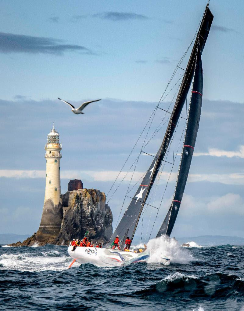 Wizard after rounding the symbol of the Rolex Fastnet Race - photo © Kurt Arrigo / Rolex