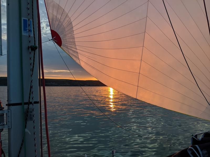 The zephyr arrived with force at Mojito in the setting sun during the ISORA Global Displays Coastal Series at Pwllheli - photo © Chris Jones