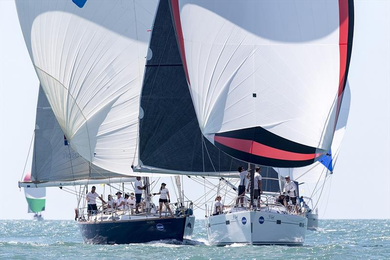 Pilgrim versus Y Knot - Sealink Magnetic Island Race Week 2017  photo copyright Andrea Francolini taken at Townsville Yacht Club and featuring the IRC class