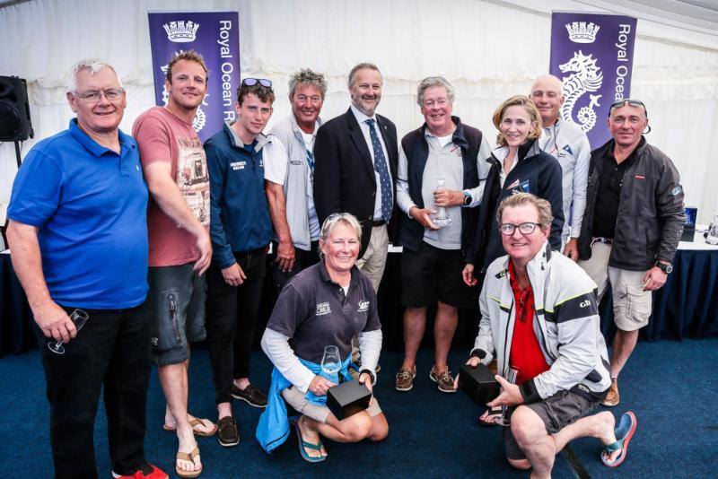Twee Gezusters Trophy for RORC Admiral Andrew McIrvine's La Réponse - 2018 IRC European Championship and Commodores' Cup - photo © Paul Wyeth / pwpictures.com
