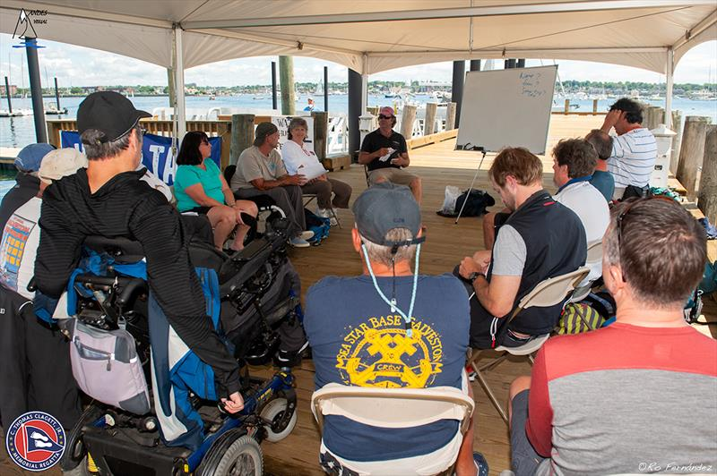 On shore coaching at the Clagett-U.S. Para Sailing Championships clinic - photo © Ro Fernandez