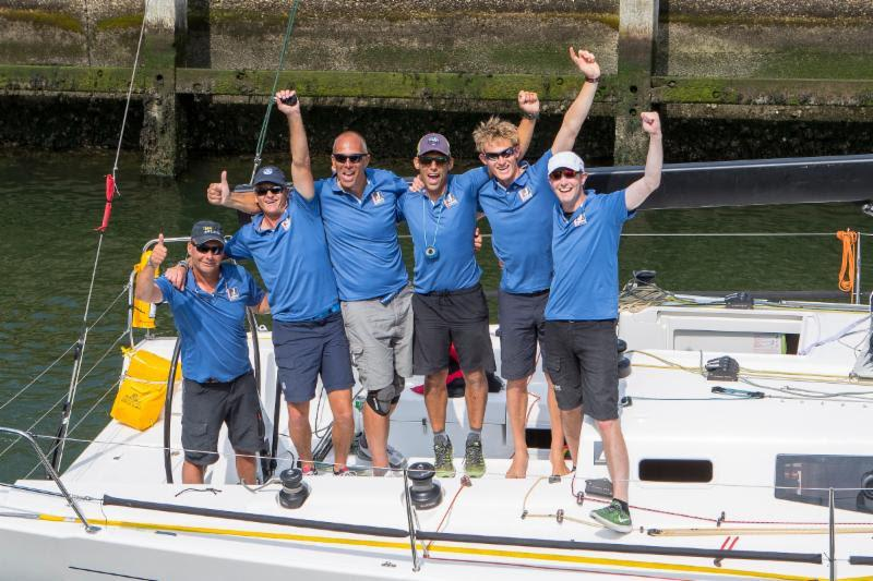 Santa team celebrates victory on the water - Hague Offshore Sailing World Championship 2018 - photo © Calle Andersen