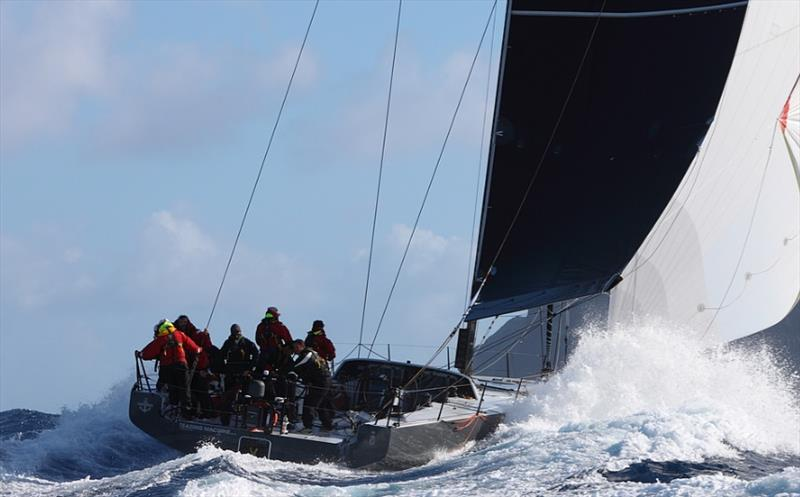 Teasing Machine pacing throught the waves - Bermuda Hamburg Race of the Atlantic Anniversary Regatta 2018 - photo © Tim Wright / RORC