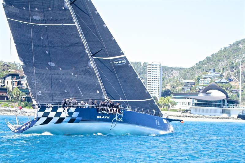 Black Jack heads to the finish off the Hamilton Island YC