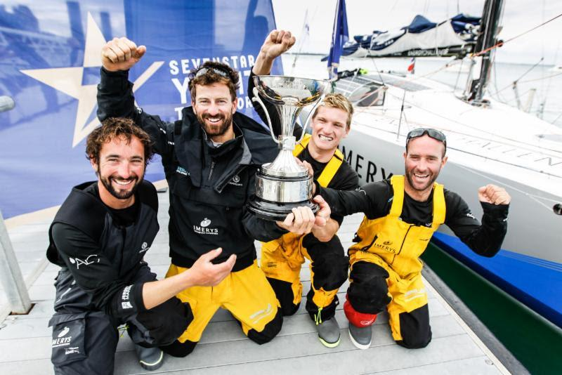 Class40 Imerys Clean Energy: Julien Pulve, Phil Sharp, Sam Matson, Pablo Santurde - 2018 Sevenstar Round Britain and Ireland Race photo copyright Paul Wyeth taken at Royal Ocean Racing Club and featuring the IRC class